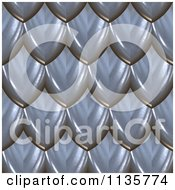 Clipart Of A 3d Seamless Blue Scales Texture Background Pattern Version 4 Royalty Free CGI Illustration