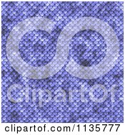 Clipart Of A Seamless Blue Scales Texture Background Pattern Version 3 Royalty Free CGI Illustration