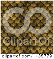 Clipart Of A Seamless Yellow Scales Texture Background Pattern Royalty Free CGI Illustration