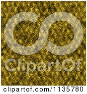 Clipart Of A Seamless Yellow Scales Texture Background Pattern Version 2 Royalty Free CGI Illustration