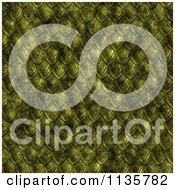 Clipart Of A Seamless Yellow Scales Texture Background Pattern Version 4 Royalty Free CGI Illustration
