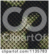 Clipart Of A Seamless Snake Skin Scales Texture Background Pattern Royalty Free CGI Illustration