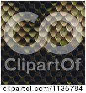 Clipart Of A Seamless Snake Skin Scales Texture Background Pattern Version 2 Royalty Free CGI Illustration