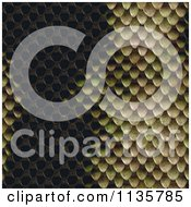 Clipart Of A Seamless Snake Skin Scales Texture Background Pattern Version 3 Royalty Free CGI Illustration