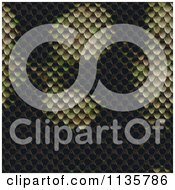 Clipart Of A Seamless Snake Skin Scales Texture Background Pattern Version 4 Royalty Free CGI Illustration