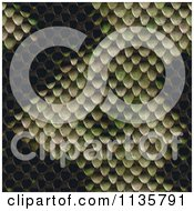 Clipart Of A Seamless Snake Skin Scales Texture Background Pattern Version 9 Royalty Free CGI Illustration