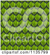 Clipart Of A 3d Seamless Green Scales Texture Background Pattern Version 2 Royalty Free CGI Illustration