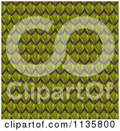 Clipart Of A 3d Seamless Green Scales Texture Background Pattern Version 3 Royalty Free CGI Illustration