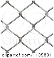 Clipart Of A Seamless Rusty Chain Link Fence Texture Background Pattern Royalty Free CGI Illustration