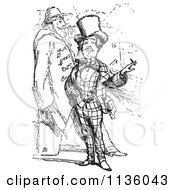 Clipart Of Retro Vintage Men Smoking In Black And White Royalty Free Vector Illustration by Picsburg