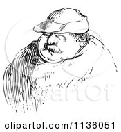 Clipart Of A Retro Vintage Man In Black And White 4 Royalty Free Vector Illustration
