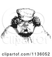 Clipart Of A Retro Vintage Man In Black And White 3 Royalty Free Vector Illustration