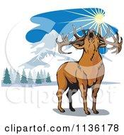 Roaring Deer In The Mountains
