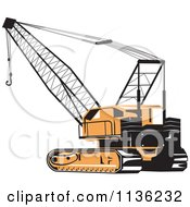 Clipart Of A Retro Construction Crane Royalty Free Vector Illustration