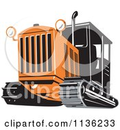 Clipart Of A Retro Bulldozer Machine 3 Royalty Free Vector Illustration by patrimonio