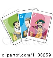 Clipart Of Jack Queen And King Playing Cards Royalty Free Vector Illustration by patrimonio