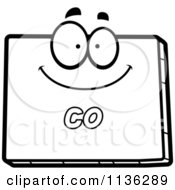 Cartoon Clipart Of An Outlined Happy Colorado State Character Black And White Vector Coloring Page