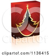 Cartoon Of A 3d Christmas Tree Software Box And Shadow Royalty Free Vector Clipart by Andrei Marincas