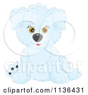 Cartoon Of A Cute White Puppy Dog Royalty Free Vector Clipart