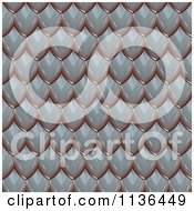 Clipart Of A 3d Seamless Scales Texture Background Pattern Version 2 Royalty Free CGI Illustration