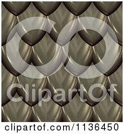 Clipart Of A 3d Seamless Scales Texture Background Pattern Version 3 Royalty Free CGI Illustration