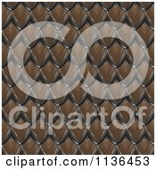 Clipart Of A 3d Seamless Scales Texture Background Pattern Version 6 Royalty Free CGI Illustration