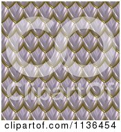 Clipart Of A 3d Seamless Scales Texture Background Pattern Version 7 Royalty Free CGI Illustration