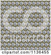 Clipart Of A 3d Seamless Scales Texture Background Pattern Version 8 Royalty Free CGI Illustration