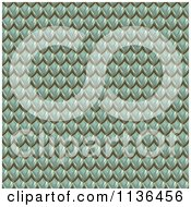 Clipart Of A 3d Seamless Green Scales Texture Background Pattern Royalty Free CGI Illustration