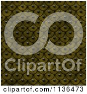 Clipart Of A Seamless Yellow Studded Skin Scales Texture Background Pattern Royalty Free CGI Illustration