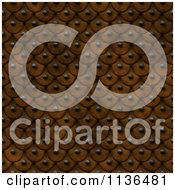 Clipart Of A Seamless Orange Studded Skin Scales Texture Background Pattern Version 2 Royalty Free CGI Illustration