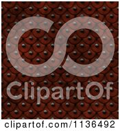 Clipart Of A Seamless Red Studded Skin Scales Texture Background Pattern Version 4 Royalty Free CGI Illustration