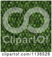Clipart Of A Seamless Green Scales Texture Background Pattern Royalty Free CGI Illustration