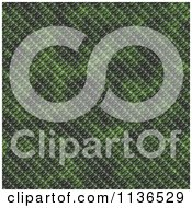 Clipart Of A Seamless Green Scales Texture Background Pattern Version 2 Royalty Free CGI Illustration