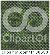 Clipart Of A Seamless Green Scales Texture Background Pattern Version 3 Royalty Free CGI Illustration by Ralf61