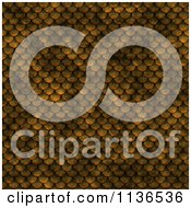 Clipart Of A Seamless Scales Texture Background Pattern Royalty Free CGI Illustration