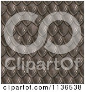 Clipart Of A Seamless Scales Texture Background Pattern Version 3 Royalty Free CGI Illustration
