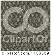 Clipart Of A Seamless Scales Texture Background Pattern Version 4 Royalty Free CGI Illustration