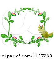 Floral Dragon Frame