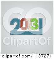 Clipart Of Fabric New Year 2013 On Gray Royalty Free Vector Illustration
