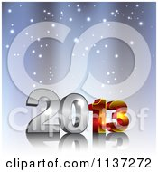 Clipart Of 3d New Year 2013 With Snow Royalty Free Vector Illustration