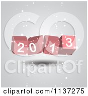 Clipart Of 3d New Year 2013 Cubes With Snow Royalty Free Vector Illustration