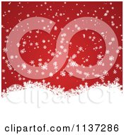 Clipart Of A Red Winter Or Christmas Snowflake Background With Copyspace 2 Royalty Free Vector Illustration by vectorace