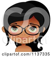 Happy Black Or Indian Girl Wearing Glasses 5