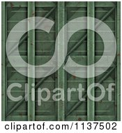 Clipart Of A Seamless 3d Green Metal Door Texture Background Pattern Royalty Free CGI Illustration by Ralf61