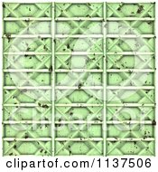 Clipart Of A Seamless 3d Green Metal Door Texture Background Pattern Version 5 Royalty Free CGI Illustration by Ralf61
