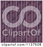 Clipart Of A Seamless 3d Purple Metal Door Texture Background Pattern Royalty Free CGI Illustration