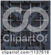 Clipart Of A Seamless 3d Blue Metal Door Texture Background Pattern Version 7 Royalty Free CGI Illustration by Ralf61