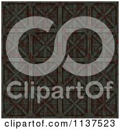 Clipart Of A Seamless 3d Metal Door Texture Background Pattern Version 4 Royalty Free CGI Illustration by Ralf61