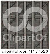 Clipart Of A Seamless 3d Metal Door Texture Background Pattern Version 7 Royalty Free CGI Illustration by Ralf61